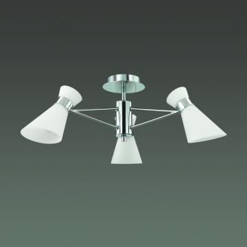 Потолочная люстра Lumion Moderni Laconica 3498/3, 3xE14x40W, хром, белый, металл, стекло - миниатюра 4