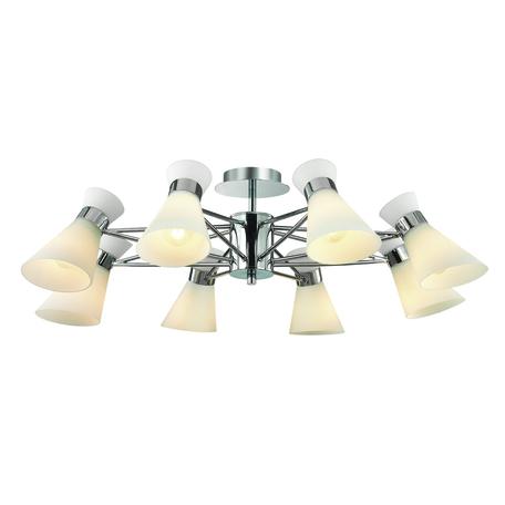 Потолочная люстра Lumion Moderni Laconica 3498/8, 8xE14x40W, хром, белый, металл, стекло