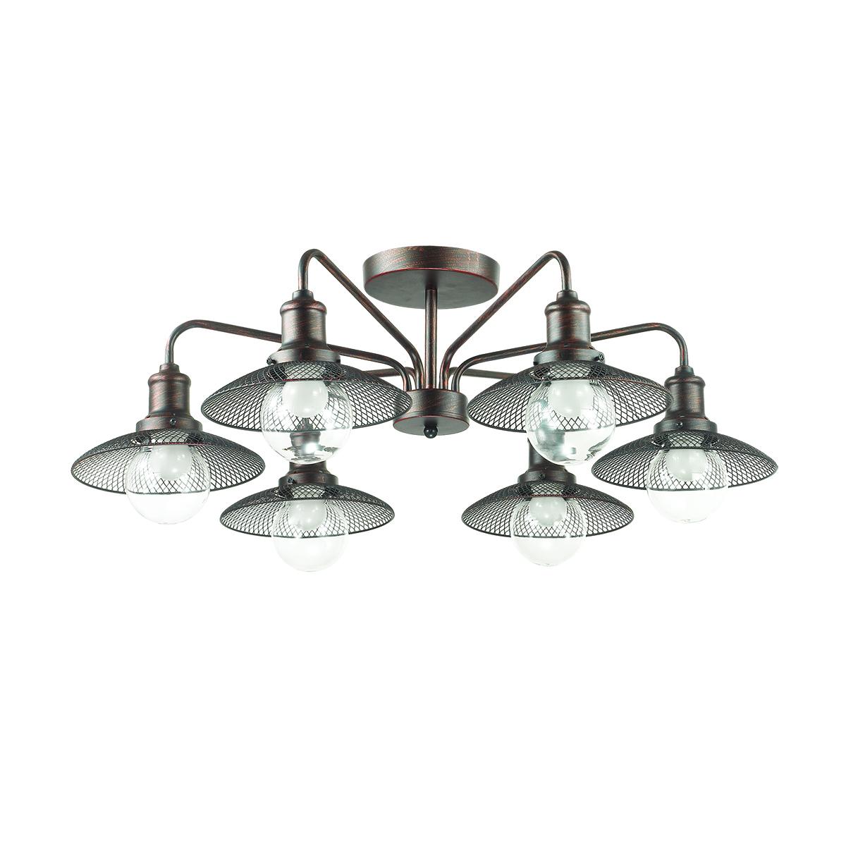 Потолочная люстра Lumion Ludacris 3513/6C, 6xE27x60W, коричневый, прозрачный, металл, стекло - фото 2