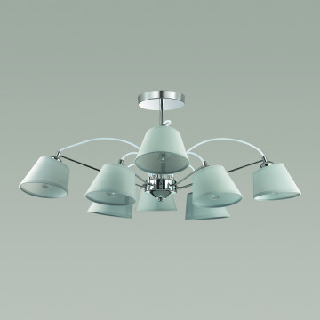 Потолочная люстра Lumion Vasana 3518/8, 8xE27x40W, хром, серый, металл, текстиль - миниатюра 4