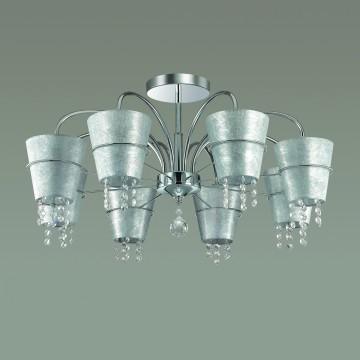 Потолочная люстра Lumion Buonaprana 3520/8C, 8xE14x40W, хром, серебро, прозрачный, металл, текстиль, хрусталь - миниатюра 4