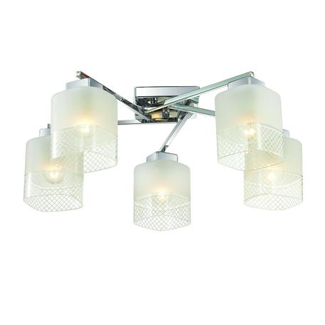 Потолочная люстра Lumion Ananda 3528/5C, 5xE27x60W, хром, матовый, прозрачный, металл, стекло