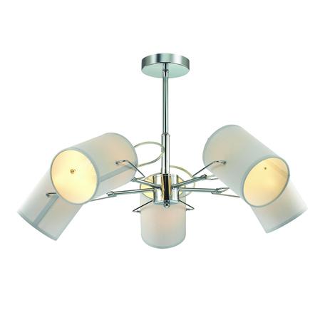 Потолочная люстра с регулировкой направления света Lumion Visario 3522/5C, 5xE14x40W, хром, серый, металл, текстиль