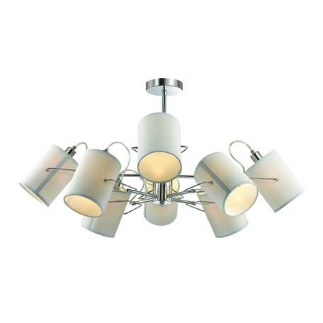 Потолочная люстра с регулировкой направления света Lumion Moderni Visario 3522/8C, 8xE14x40W, хром, серый, металл, текстиль
