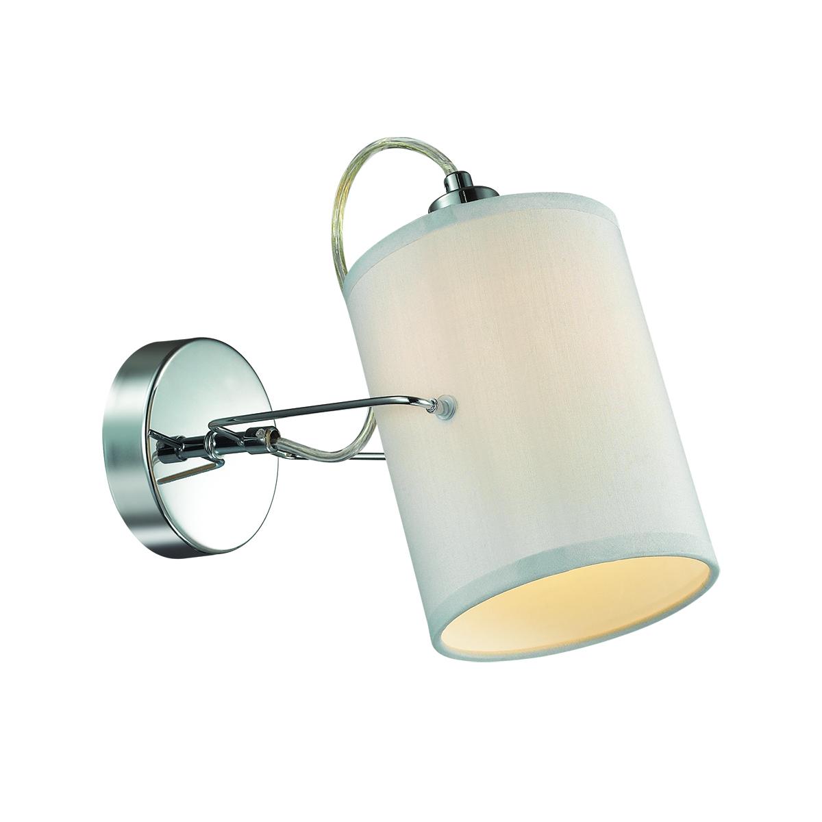 Потолочный светильник с регулировкой направления света Lumion Visario 3522/1W, 1xE14x40W, хром, серый, металл, текстиль - фото 1
