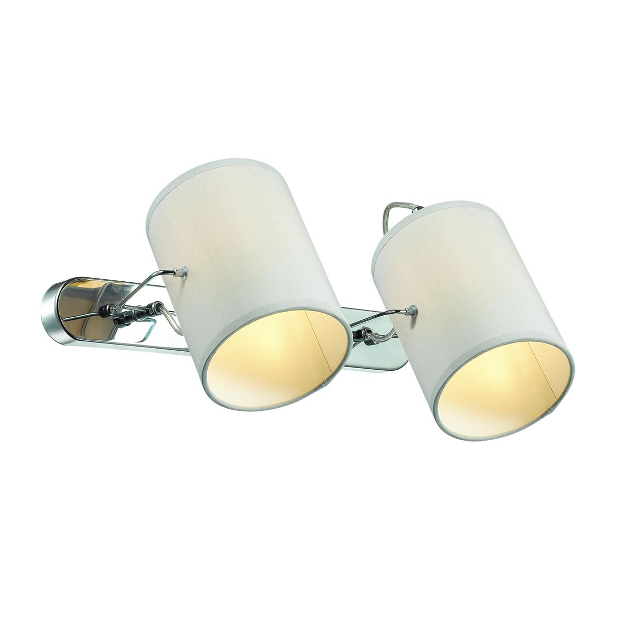 Потолочный светильник с регулировкой направления света Lumion Visario 3522/2W, 2xE14x40W, хром, серый, металл, текстиль - фото 1