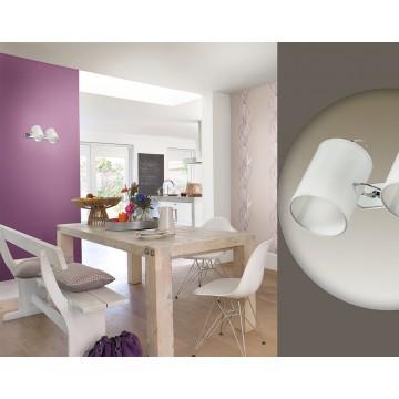 Потолочный светильник с регулировкой направления света Lumion Visario 3522/2W, 2xE14x40W, хром, серый, металл, текстиль - миниатюра 5