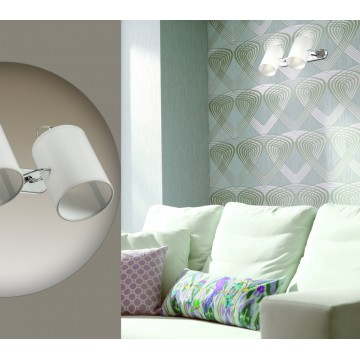 Потолочный светильник с регулировкой направления света Lumion Visario 3522/2W, 2xE14x40W, хром, серый, металл, текстиль - миниатюра 6