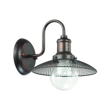 Бра Lumion Ludacris 3513/1W, 1xE27x60W, коричневый, прозрачный, металл, стекло