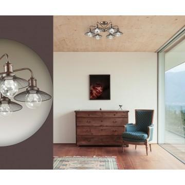 Потолочная люстра Lumion Ludacris 3513/6C, 6xE27x60W, коричневый, прозрачный, металл, стекло - миниатюра 5