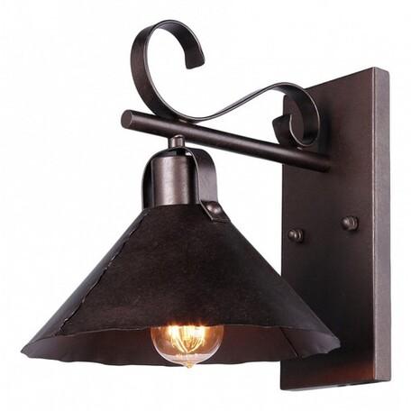 Бра Maytoni Iron H104-01-R, 1xE27x60W, коричневый, металл