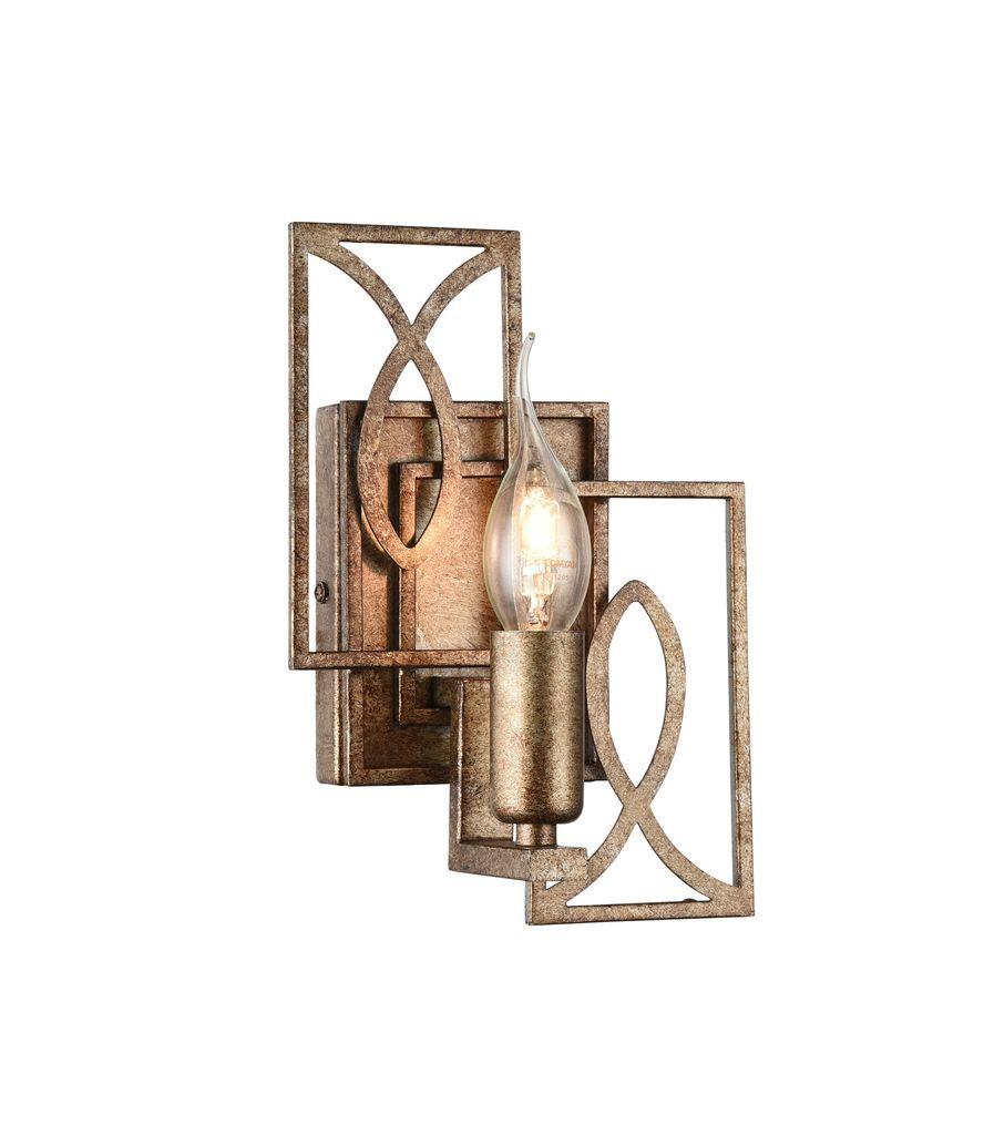 Бра Maytoni Eisner H237-01-G, 1xE14x40W, матовое золото, металл - фото 1