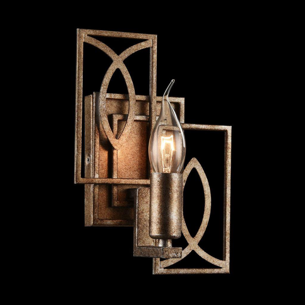 Бра Maytoni Eisner H237-01-G, 1xE14x40W, матовое золото, металл - фото 2