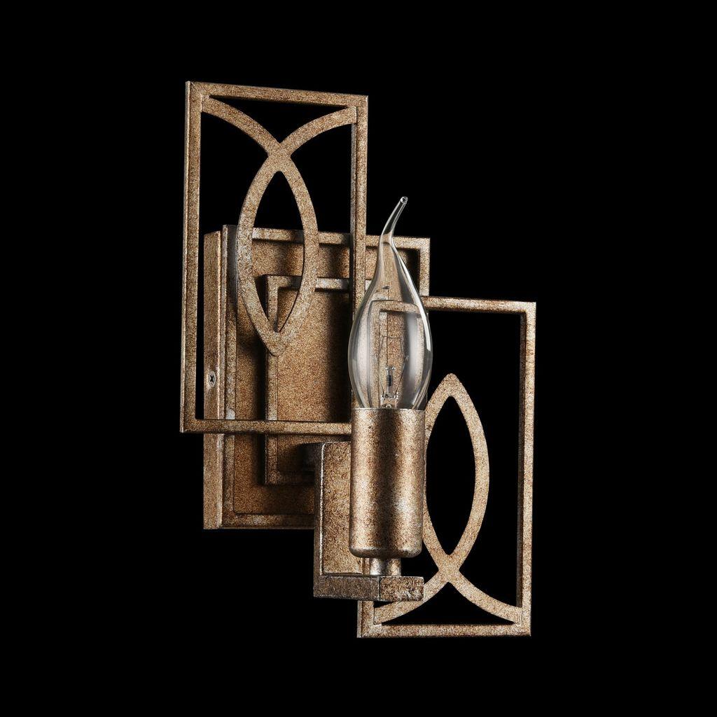 Бра Maytoni Eisner H237-01-G, 1xE14x40W, матовое золото, металл - фото 3