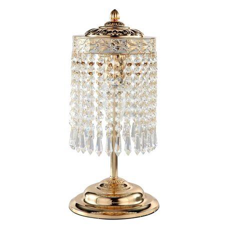 Настольная лампа Maytoni Bella DIA750-WB11-WG, 2xE14x60W, золото, прозрачный, металл, хрусталь
