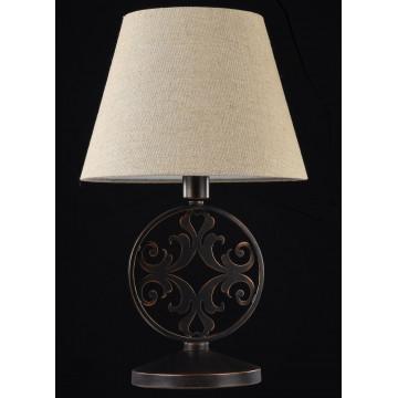 Настольная лампа Maytoni Rustika H899-22-R, 1xE27x40W, коричневый, бежевый, металл, ковка, текстиль - миниатюра 2