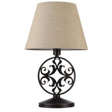 Настольная лампа Maytoni Rustika H899-22-R, 1xE27x40W, коричневый, бежевый, металл, ковка, текстиль - миниатюра 3
