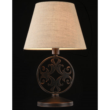 Настольная лампа Maytoni Rustika H899-22-R, 1xE27x40W, коричневый, бежевый, металл, ковка, текстиль - миниатюра 4