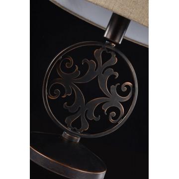 Настольная лампа Maytoni Rustika H899-22-R, 1xE27x40W, коричневый, бежевый, металл, ковка, текстиль - миниатюра 5