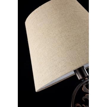 Настольная лампа Maytoni Rustika H899-22-R, 1xE27x40W, коричневый, бежевый, металл, ковка, текстиль - миниатюра 6