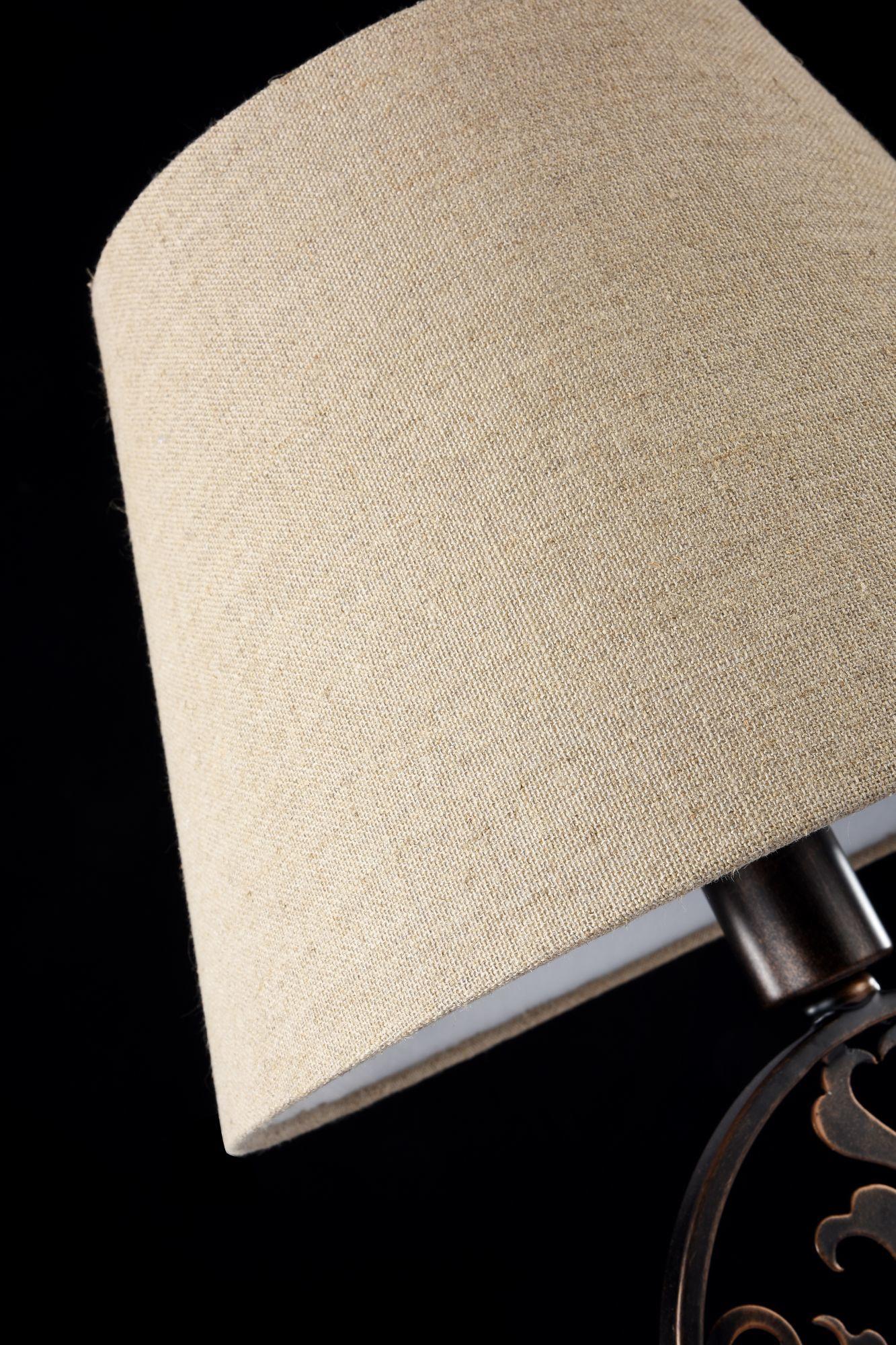 Настольная лампа Maytoni Rustika H899-22-R, 1xE27x40W, коричневый, бежевый, металл, ковка, текстиль - фото 6