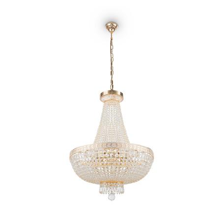 Подвесная люстра Maytoni Bella DIA750-TT50-WG, 8xE14x60W, золото, прозрачный, металл, хрусталь