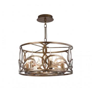 Подвесная люстра Maytoni Eisner H237-06-G, 6xE14x40W, матовое золото, прозрачный, металл
