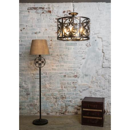 Подвесная люстра Maytoni Rustika H899-05-R, 5xE14x60W, коричневый, металл, ковка - миниатюра 5