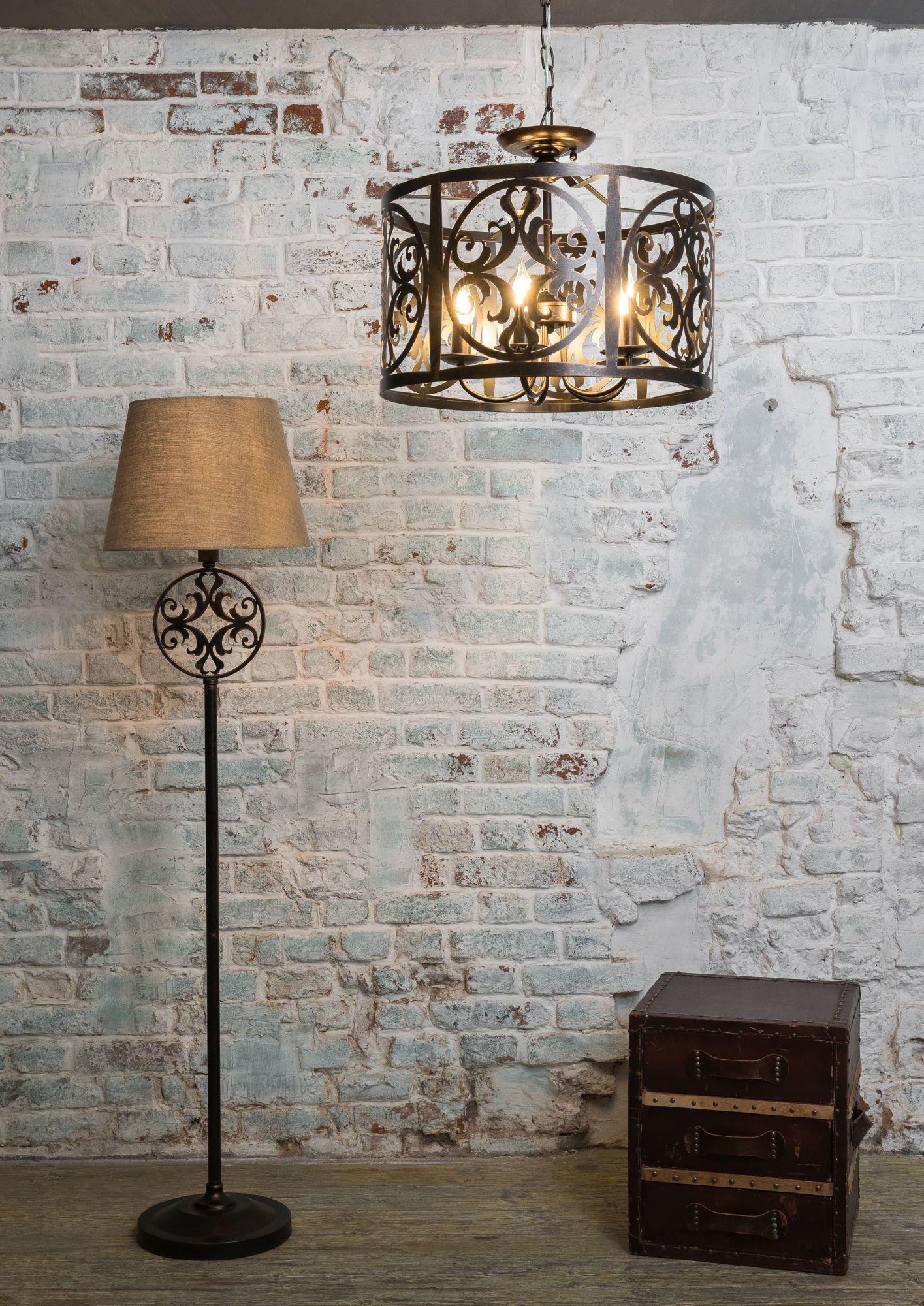 Подвесная люстра Maytoni Rustika H899-05-R, 5xE14x60W, коричневый, металл, ковка - фото 5