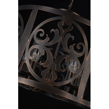 Подвесная люстра Maytoni Rustika H899-05-R, 5xE14x60W, коричневый, металл, ковка - миниатюра 8