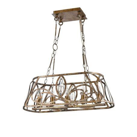 Подвесной светильник Maytoni Eisner H237-05-G, 5xE14x40W, матовое золото, прозрачный, металл