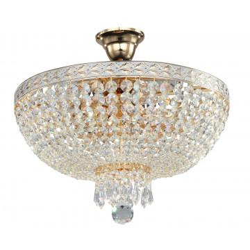 Потолочная люстра Maytoni Bella DIA750-PT40-WG, 5xE14x60W, золото, прозрачный, металл, хрусталь