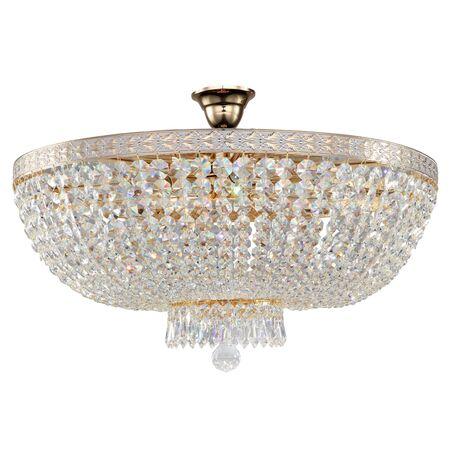 Потолочная люстра Maytoni Bella DIA750-PT60-WG, 8xE14x60W, золото, прозрачный, металл, хрусталь