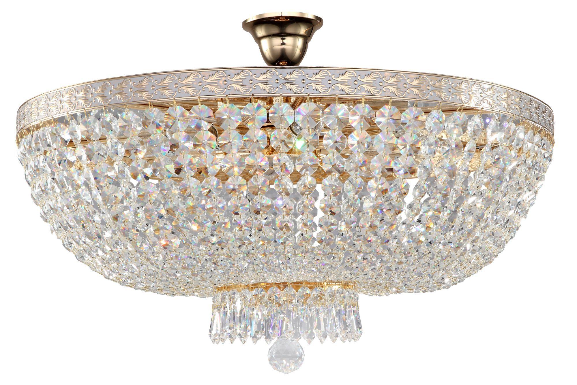 Потолочная люстра Maytoni Bella DIA750-PT60-WG, 8xE14x60W, золото, прозрачный, металл, хрусталь - фото 1