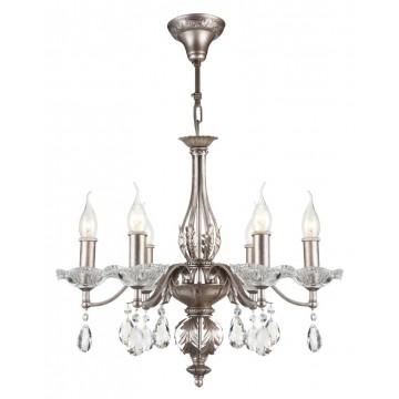 Подвесная люстра Maytoni Margo H525-06-N, серебро, прозрачный, металл, стекло, хрусталь
