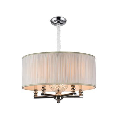 Основание подвесной люстры Newport 3125/S nickel без абажуров, 5xE14x60W, хром, металл