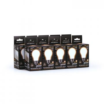 Филаментная светодиодная лампа Gauss 102202110 груша E27 10W, 2700K (теплый) CRI>90 185-265V, гарантия 3 года - миниатюра 4