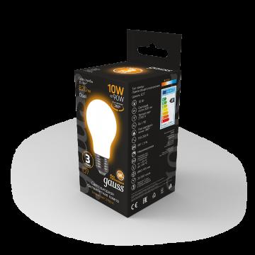 Филаментная светодиодная лампа Gauss 102202110 груша E27 10W, 2700K (теплый) CRI>90 185-265V, гарантия 3 года - миниатюра 5