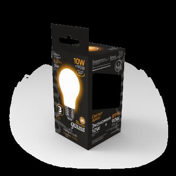 Филаментная светодиодная лампа Gauss 102202110 груша E27 10W, 2700K (теплый) CRI>90 185-265V, гарантия 3 года - миниатюра 6