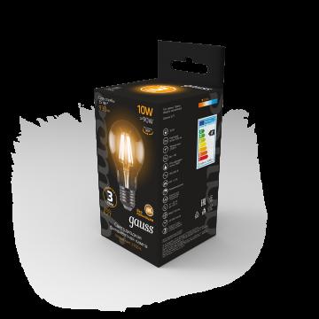 Филаментная светодиодная лампа Gauss 102802110 груша E27 10W, 2700K (теплый) CRI>90 185-265V, гарантия 3 года - миниатюра 7