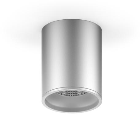 Потолочный светодиодный светильник Gauss Overhead HD004, LED 12W 4100K 920lm CRI>80, матовый хром, металл