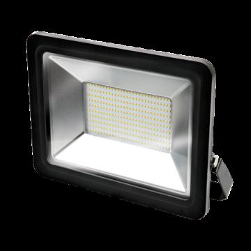 Светодиодный прожектор Gauss Q Plus морозоустойчивый 613100200, IP65, LED 200W 6500K 17500lm CRI>75, черный, металл, стекло
