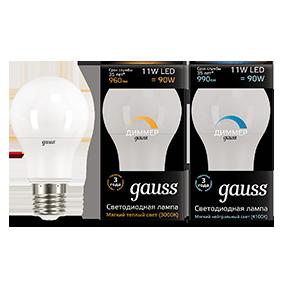 Светодиодная лампа Gauss 102502111-D груша E27 11W, 3000K (теплый) CRI>90 150-265V, диммируемая, гарантия 5 лет - фото 2