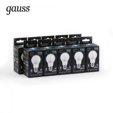 Светодиодная лампа Gauss 102502210 груша E27 10W, 4100K (холодный) CRI>90 150-265V, гарантия 5 лет - миниатюра 3
