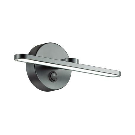 Настенный светильник Lumion Akari 3764/10WL, IP44, черный, металл, пластик