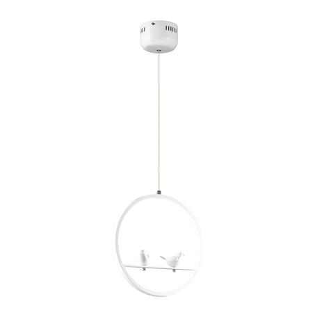 Подвесной светодиодный светильник Lumion LEDio Jasper 3717/18L, LED 18W 4000K, белый, металл с пластиком, металл, пластик