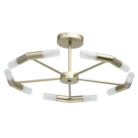 Потолочная люстра De City Олимпия 638014310, 10xG9x5W, матовое золото, белый, металл, стекло