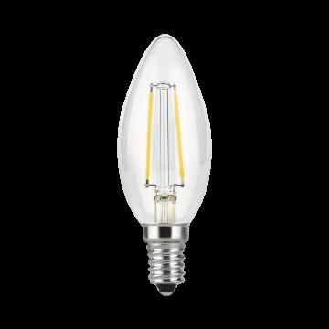 Филаментная светодиодная лампа Gauss 103801211 свеча E14 11W, 4100K (холодный) CRI>90 150-265V, гарантия 3 года - миниатюра 2