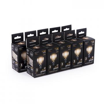 Филаментная светодиодная лампа Gauss 105801111 шар малый E14 11W, 2700K (теплый) 150-265V - миниатюра 3