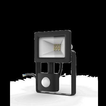 Светодиодный прожектор Gauss Elementary 628511310, IP65, LED 10W 6500K 700lm CRI>75, черный, металл, металл со стеклом
